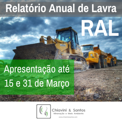 Relatório Anual de Lavra (RAL)